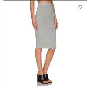 Standard James Perse Classic pencil skirt Grey